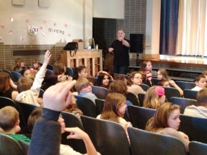 author of books for reluctant readers school visit